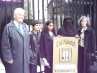 Deportees Families Deliver Eid Card to Downing Street