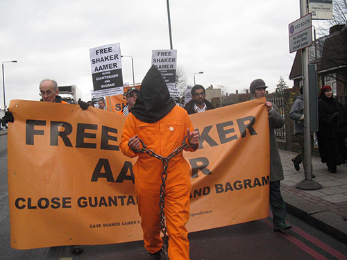 Free Shaker Aamer demo, London