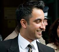 Aamer Anwar outside the High Court, Edinburgh