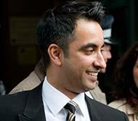 Aamer Anwar outside the High Court, Edinburgh
