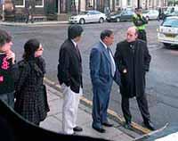 demo at Indian Consulate, Edinburgh