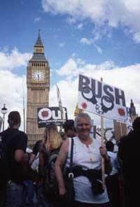 Anti_bush Demo, London