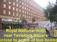 Royal National Hotel, near Tavistock Square, London - close to the scene of the bus bomb