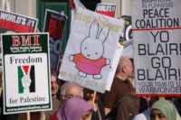 banners outside the Labour Party Conference, 23 September 2006