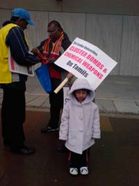 child at at demonstration