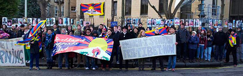 Tibetan National Uprising Day, Chinese Consulate, Edinburgh