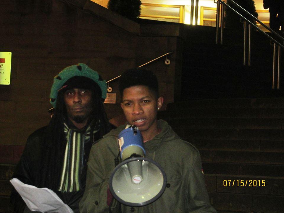 Black lives matter - vigil in Glasgow