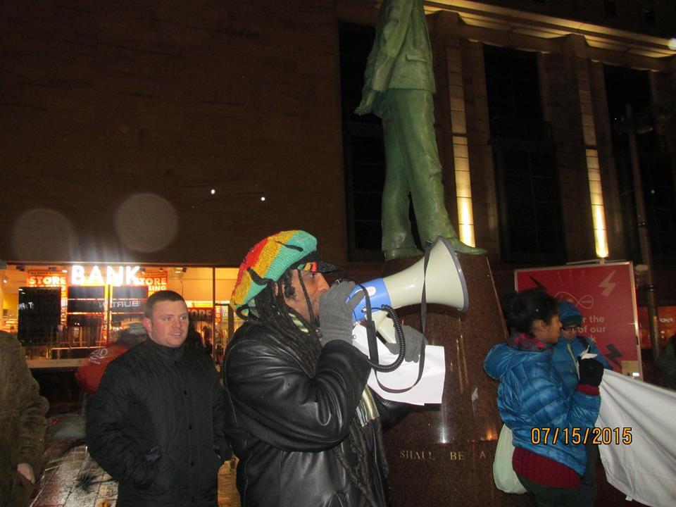 Black Lives Matter - Glasgow vigil