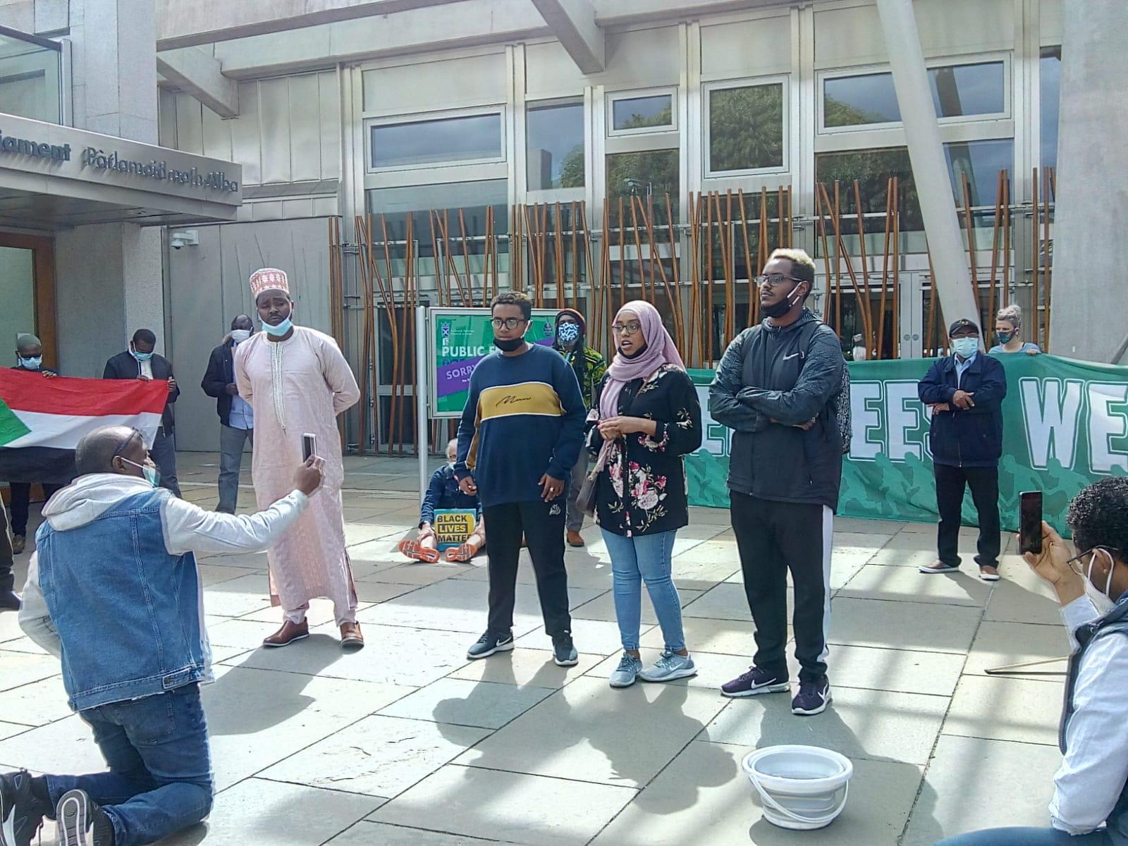 Solidarity with Scotland's Sudanese people, Edinburgh 12 July 2020