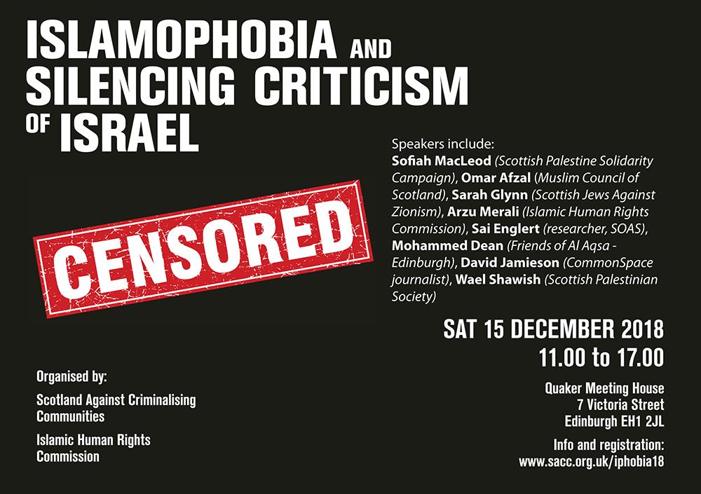 Islamophobia and Silencing Criticism of Israel