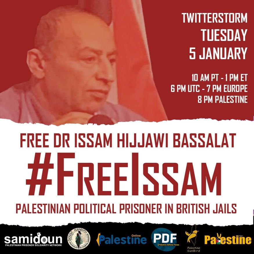 #FreeIssam twitterstorm