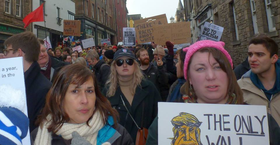 Marching down the Royal Mile