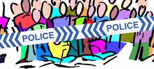 Behind police lines