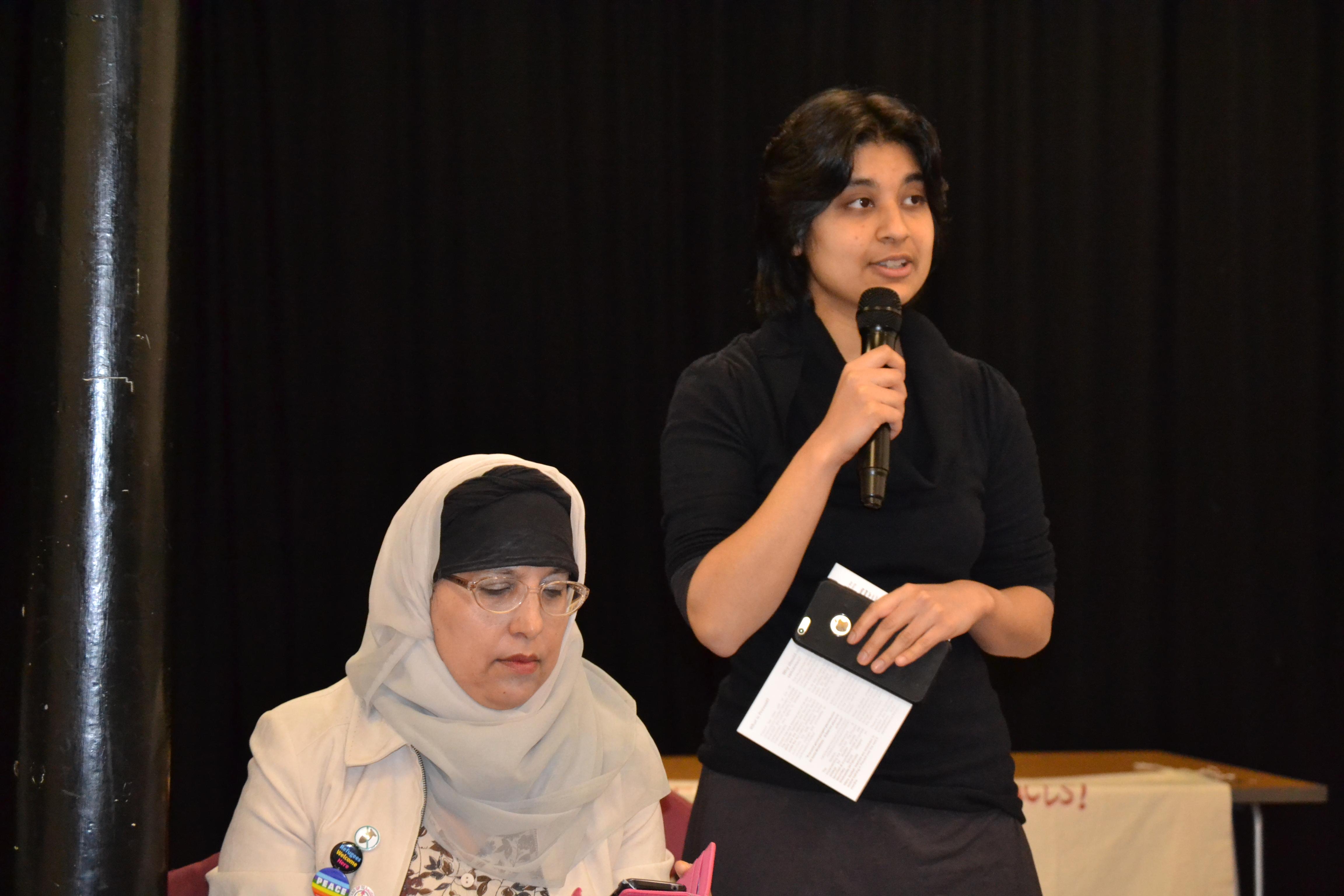 Habiba Islam introducing the meeting