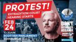 Don't extradite Assange - protest at Scottish Parliament