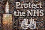 Photo mosaic for NHS vigil, 2011