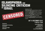 Islamophobia and Silencing Criticism of Israel