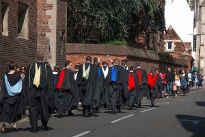 Graduation day, Cambridge University, May 2015