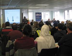 Samena Dean presenting Islamophobia in Edinburgh Schools