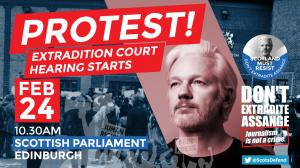 Don't extradite Assange - protest at Scottish Parliament