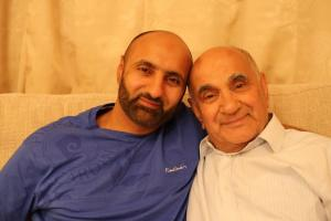 Babar Ahmad with his father