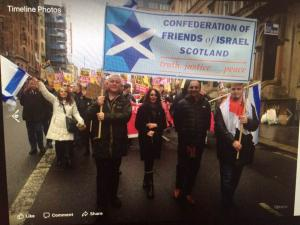 COFIS on an anti-racism march, Glasgow, 18 March 2017