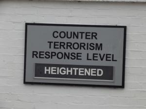 Counter terrorism response level notice
