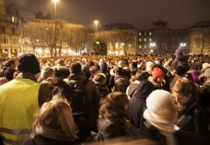 Vigil for Charlie Hebdo staff, Lille