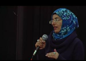 Nahella Ahraf speaking in Edinburgh, 30 April 2016
