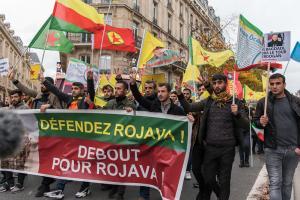 Demo in support of Rojava, Paris