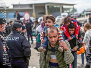Syrian refugees,  Hegyeshalom, Hungary