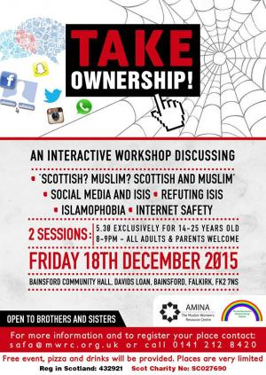 Take Onwership workshop, Falkirk, December 2016