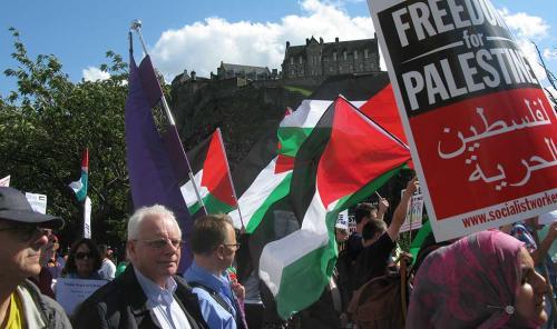 Freedom for Palestine, Princes Street, Edinburgh
