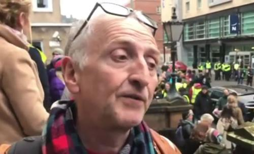 Peter Gregson at the STUC anti-racism march, 24 Nov 218