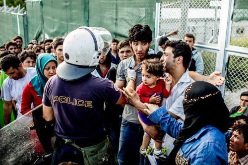Moria refugee camp, Lesvos, October 2015