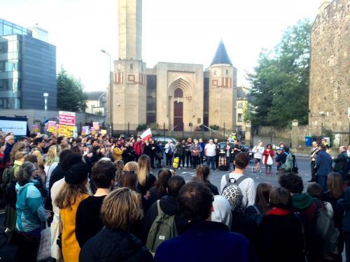 Peace vigil at Edinburgh Central Mosque, 20 September 2016
