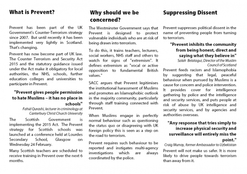What is Prevent -  flyer for the meeting