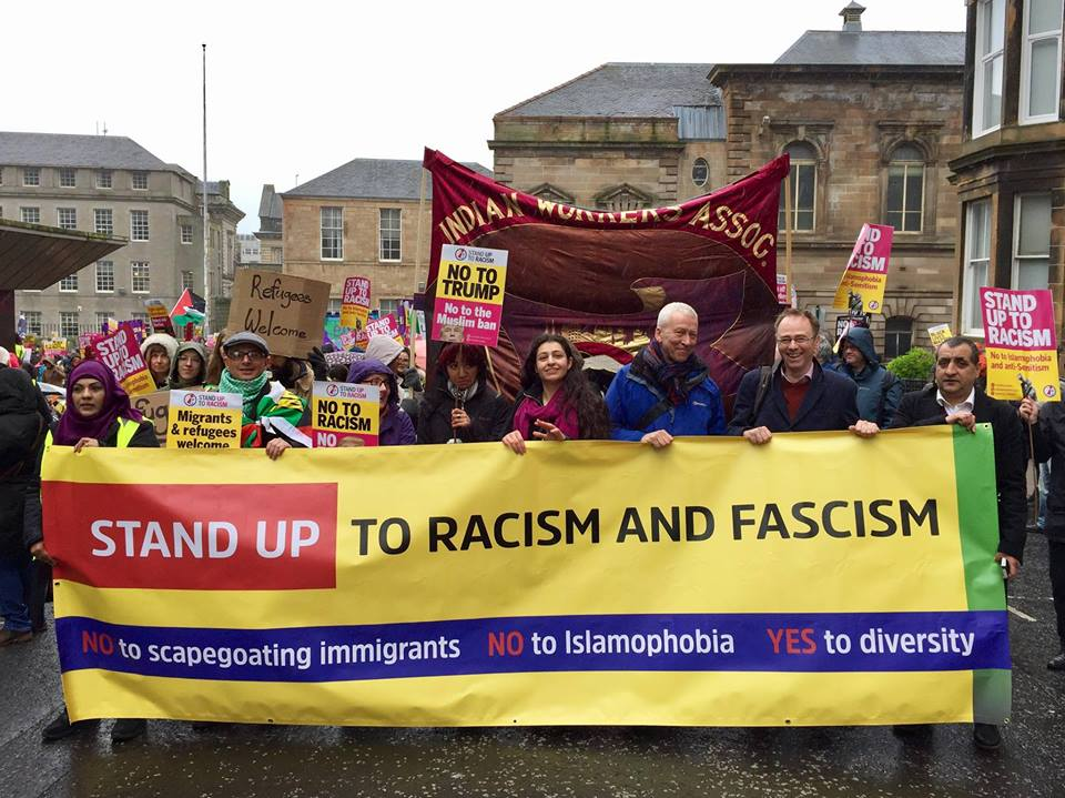 Stand Up to Racism demo, Glasgow, 18 March 2017